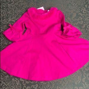 NWT 2T Janie and jack fur holiday twirl dress pink